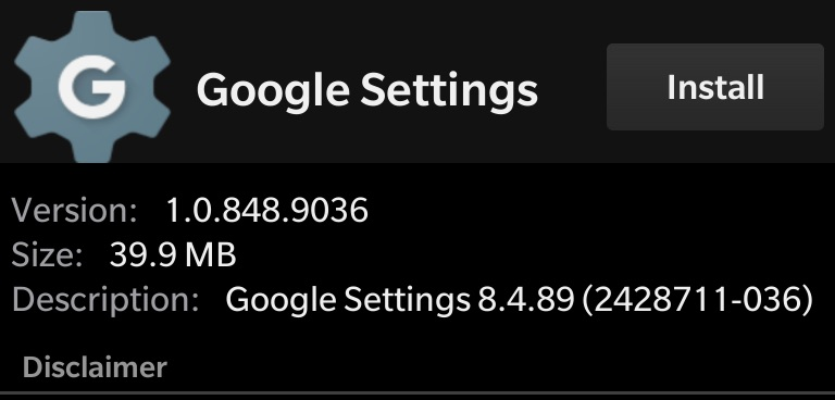 Install Google Services